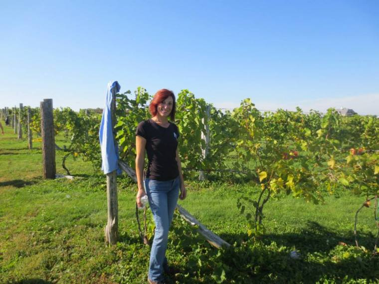 maryann in vineyard image
